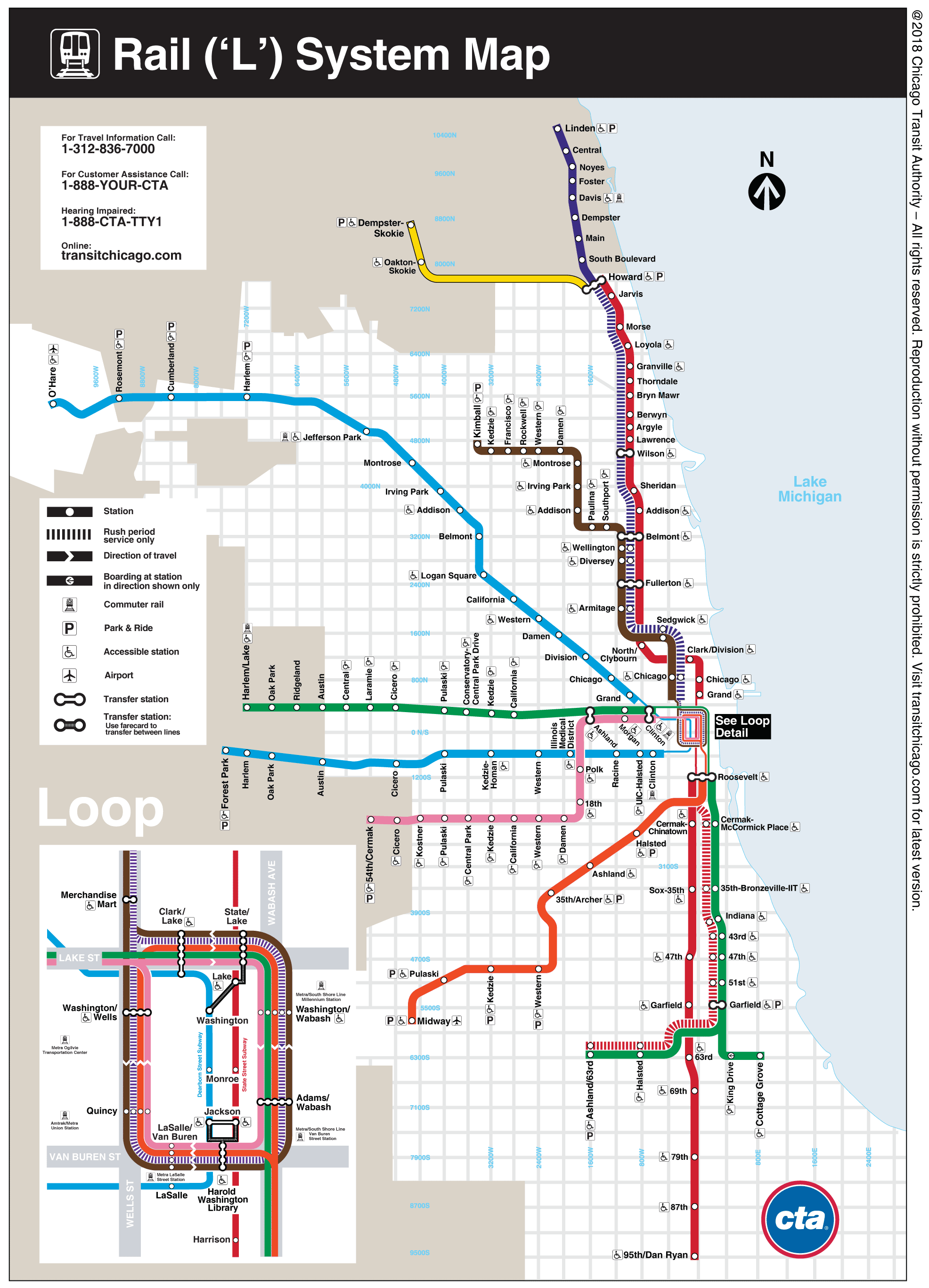 CTA Train Lines Map  Bing Images