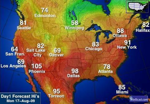 Las Vegas Weather Map CS 424 Week 1