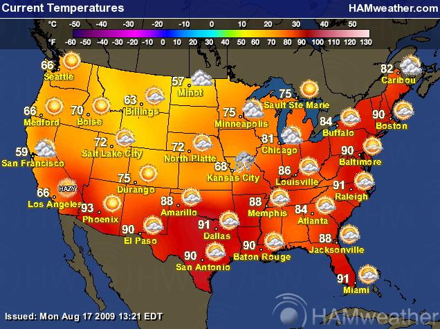 Us Weather Temperature Forecast Map