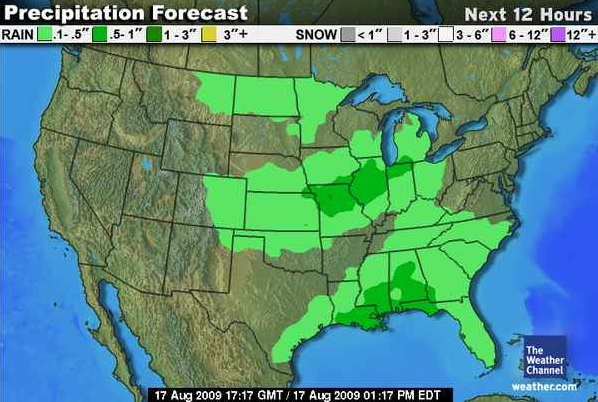 CS 424 Week 1 – Weather Channel Travel Map
