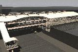 Rendered computer model of proposed station from aerial view.