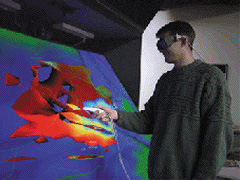 User Interacting with CAVE6D Application