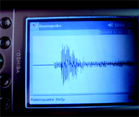 Pocket PC Serves as Simulated Seismograph