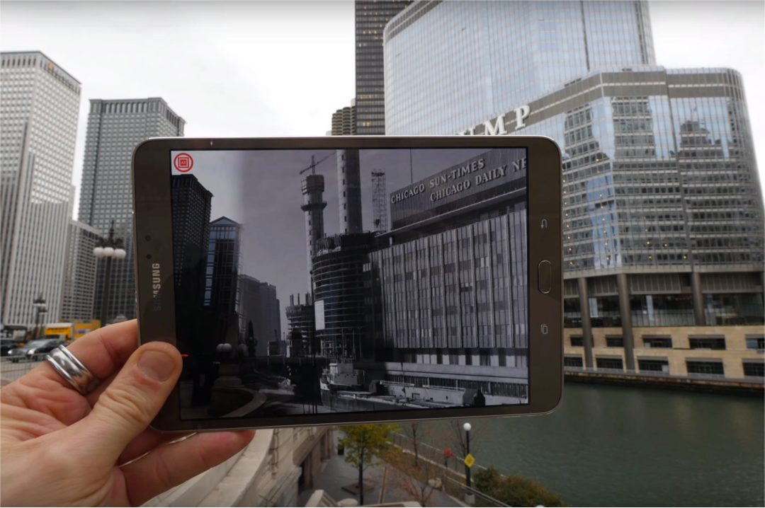 Chicago 0,0 is a mobile application aimed at presenting 2D media content from archives of historical media through the use of augmented reality.